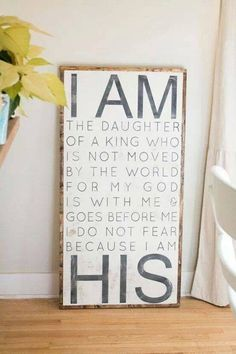I am the daughter of the King!