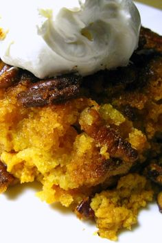 *** I added to the crunch: 1 1/2 C oatmeal 1 cup cornflakes 1/2 wheat flour . Pumpkin Crunch Cake OR Dump Cake | KitchMe