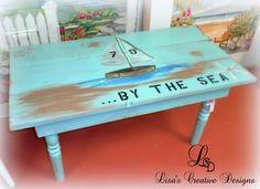 Decorating With Upcycled Beach Decor beach inspired coffee table #beachdecor #beachdecorating #decoratingabeachhome #upcycledbeachdecor