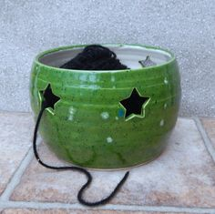 Yarn bowl ....knitting or crochet .....hand thrown pottery