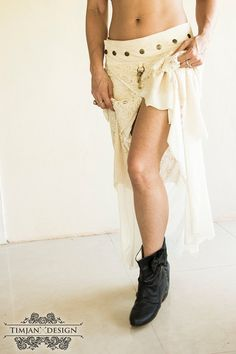 PIXE SKIRT LONG  Faery fairy costume Boho Hippie by TimjanDesign
