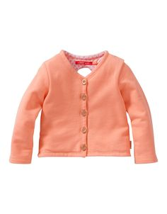 Cardigan Hessel. Sweat cardigan in 100% comfortable cotton. With a fun ears and whiskers detail on the back.