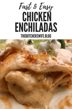 Fast and Easy Chicken Enchiladas Enchilada Ingredients, Recipes With Enchilada Sauce, Mexican Chicken Recipes, Easy Chicken Recipes, Easy Recipes, Tortillas, Chicken Enchildas, Zucchini, Sour Cream Enchiladas