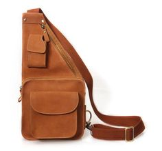 Leather Sling Bag Purse