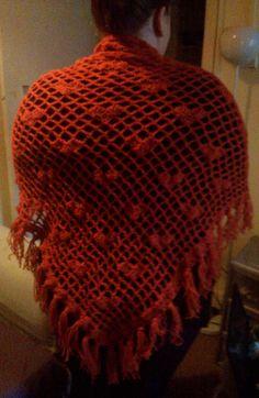 Crochet heart shawl