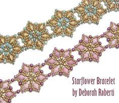Starflower Bracelet pattern by Deborah Roberti