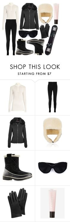 """""""street style"""" by sisaez ❤ liked on Polyvore featuring Fusalp, Canada Goose, SOREL, Oliver Peoples, Mulberry, Chanel and Express"""