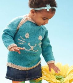 #DIY Knit Child's Spring Bunny Pullover | FREE Kid's Clothes Pattern available on Joann.com