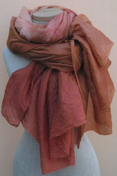 gorgeous hand dyed silk scarf