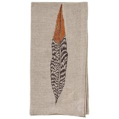 "SHOP ALL DINNER NAPKINS Inspired by the spirit of the pheasant feather, this napkin will bring natural beauty to any table. Embroidered on 100% natural linen. Measures 20""x 20"". Please see our detaile"