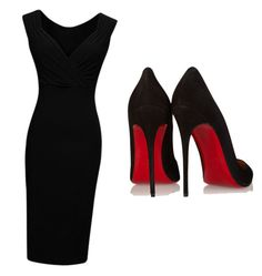 """""""My dark side"""" by closandmoreclose on Polyvore featuring Christian Louboutin"""