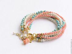 bracelet pink coral lagune