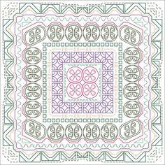 Dizzy Day Back Stitch Pattern, Instant Download Cross Stitch Pattern