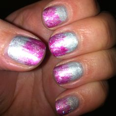 CND Shellac Chrome with Gelish High Voltage design