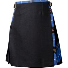 Siobhan Mackenzie Signature Blue Kilt ($425) ❤ liked on Polyvore featuring red tartan and black