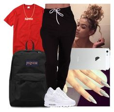 A fashion look from July 2016 featuring champion tee, sports track pants and white trainers. Browse and shop related looks. Nike Outfits, Swag Outfits For Girls, Cute Lazy Outfits, Cute Swag Outfits, Cute Outfits For School, Tomboy Outfits, Chill Outfits, Teen Fashion Outfits, Teenager Outfits