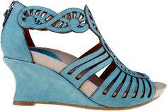 Earthies Caradonna Women's Wedge Sandal (Light Teal)