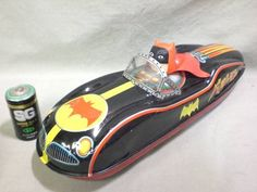 Vintage 1960 Japanese Masudaya Batman Robin Race Batmobile Space Car Tin Toy | eBay