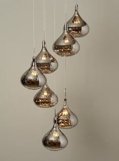 Leah Smoked Cluster - ceiling lights  - Lighting