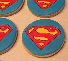 Superman Decorated Sugar Cookie