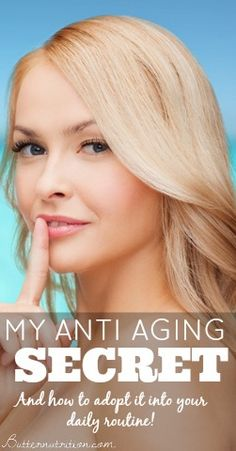 Anti Aging Secret   #AntiAging http://www.healyourfacewithfood.com/