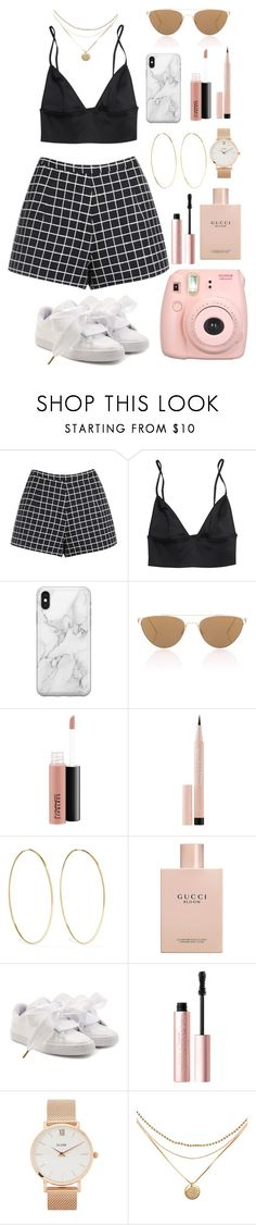 """""""Untitled #22"""" by guadalupe-pinazo ❤ liked on Polyvore featuring Recover, Oliver Peoples, MAC Cosmetics, Maybelline, Magda Butrym, Gucci, Puma, Too Faced Cosmetics, CLUSE and Fujifilm"""