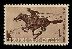 United States Master Collection, Scott 1154, Pony Express Centennial