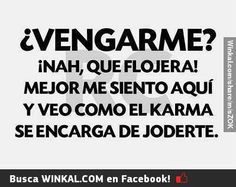 Se llama karma y pronto te visitará Funny Karma Quotes, Karma Frases, Me Quotes, Ex Amor, Funny Phrases, Prayer Quotes, Geek Humor, New Things To Learn, Spanish Quotes
