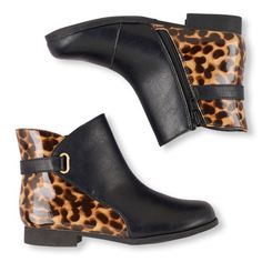 Mili Leopard Print Strap Boot | The Children's Place