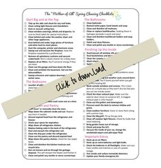 The Mother-of-All Spring Cleaning Lists