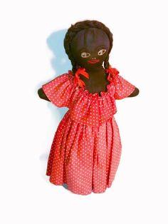 Antique Black Americana poupée chevrotine par thelongacreflea