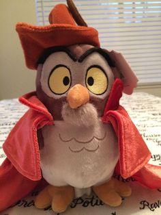 Sleeping Beauty Owl Plush Stuffed Animal Toy In Prince's Clothing Hat Robe Cape #Disney