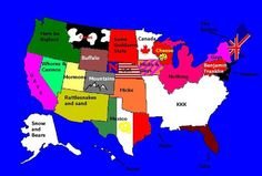 Us Map Funny.67 Best Funny Map Fun Images United States Maps Funny Cards