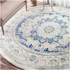 nuLOOM Traditional Persian Vintage Round Rug