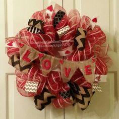 LOVE Banner Valentines Day Wreath