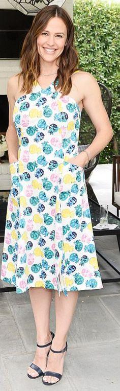 Who made Jennifer Garner's floral dress?