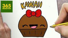 COMO DIBUJAR CUPCAKE KAWAII PASO A PASO - Dibujos kawaii faciles - How t...