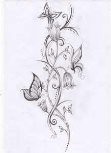 Flower Vine And Butterflies By Ashtonbkeje Designs Interfaces Tattoo