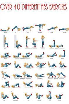 40 exercícios para abdominais; abs