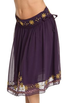 Coupe Aurelie Chiffon Skirt in Blackberry Wine - Beyond the Rack