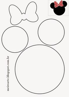 Image result for Minnie Mouse Bow Template