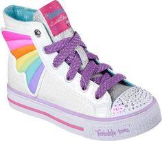 Skechers Infant Girls' Twinkle Toes Shuffles Wander Wings High Top White/ Multi Size 9