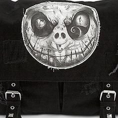 "Disney Parks Exclusive Nightmare Before Christmas Jack Skellington ""Dreaming Of Sally"" Messenger Style Bag Purse"