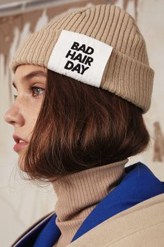 [Ronan wearing this over her shaved head] Bad hair day beanie by ADER Error Bad Hair Day Beanie, Pretty People, Beautiful People, Gintama, Fashion Models, Fashion Outfits, Poses References, Looks Black, Fashion Details