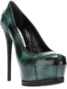 GIANMARCO LORENZI brogue style pump