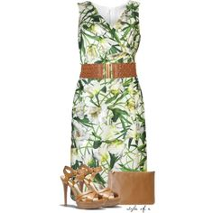 A fashion look from April 2014 featuring Oscar de la Renta dresses, Coach shoes and Alexander McQueen clutches. Browse and shop related looks.