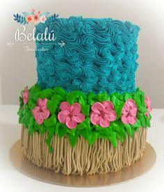 Cake Icing, Buttercream Cake, Cupcake Cakes, Pretty Cakes, Cute Cakes, Merengue Cake, Bolo Moana, Smooth Cake, Wilton Cake Decorating