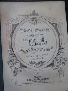 Invitation to the All Hallow's Eve Ball by crepeconfectionary