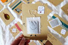 Chá & Girassóis: diy: reutilizar postais ~ fazer novos a partir de velhos.