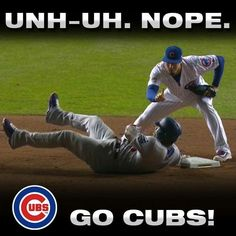 Not today Puig. Chicago Cubs Pictures, Chicago Cubs Fans, Chicago Cubs World Series, Chicago Cubs Baseball, Cub Sport, Baseball Memes, Mlb Teams, Sports Teams, Cubs Team